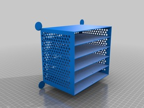 long drawer for electronic components