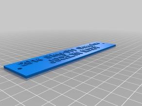 My Customized custom plaque nameplate customizer JOCELYN MOODY