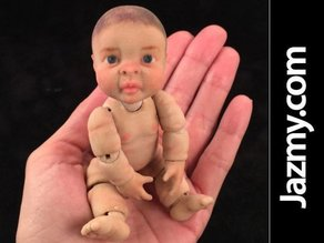 3d Realistic Articulate Ball Jointed Miniature Baby Doll