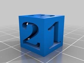 Number Dice Standard Size