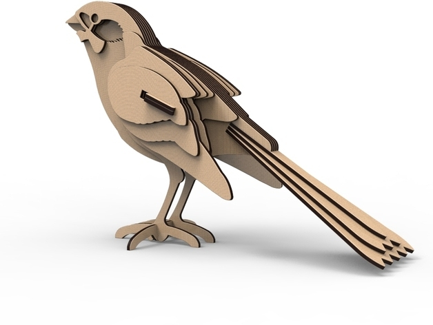 Bird Ready For Lasercut Dxf Files By Bsteenho Thingiverse