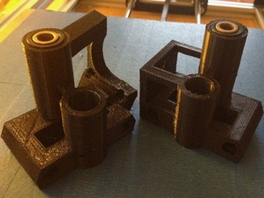 RepRap X-ends for self-aligning bronze bushings (and optionally Misumi leadscrews)