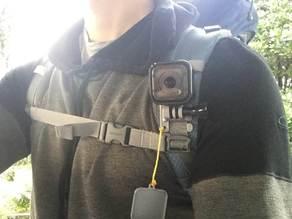 GoPro Session Backpack Shoulder Strap Mount with Lens Cap