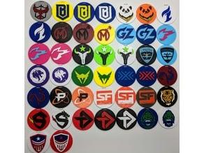 Overwatch League Team Keychains