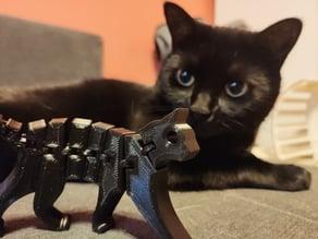 Flexi Cat keychain