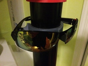 "Snap-on glasses holder for 60mm or 2"" PVC pipe"