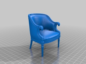 Classy Chair with Ram's Head Arms