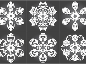 Star Wars Snowflakes by Anthony Herrera - 2011