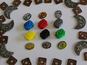 Lords of Waterdeep - Player Building Tokens