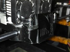 Active cooling duct quick release