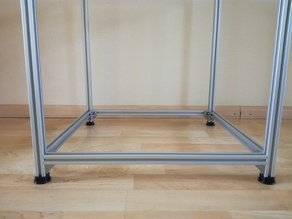 2020 aluminium feet (hypercube)
