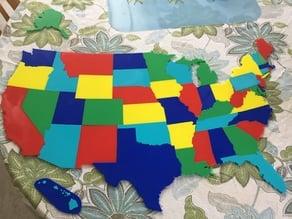 50 US States Puzzle set