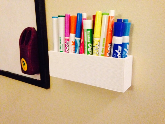 Wall Mounted Marker Holder By Braharv Thingiverse