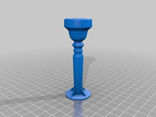 Trumpet mouthpiece (working)