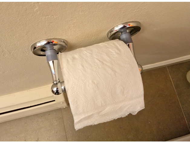 Toilet Paper Holder Spacer For Large Rolls Of Tp By
