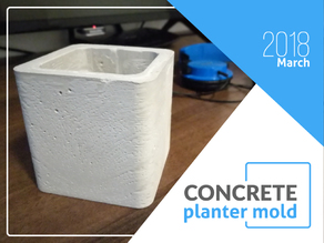 Concrete planter/pot mold