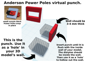 Virtual punch for Anderson Power Poles.