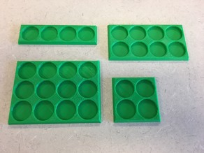 GW-Style 25mm round base  Movement Tray For Saga or other games
