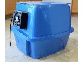 Ventless Litter Box Fume Extractor
