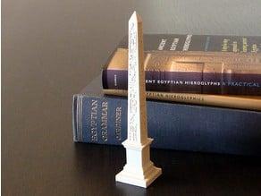 Obelisk with hieroglyphs