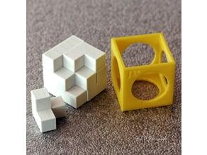 Boîte de rangement pour puzzle soma - Storage box for soma puzzle