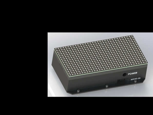 Raspberry Pi 2 Case for RGB LED 32x16 Matrix Display by