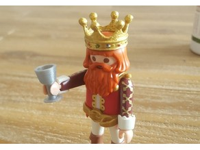 Playmobil medieval crown and drinking goblet