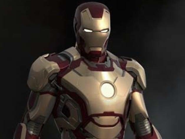Iron Man wearable helmet Mark 42 Mk 42 by Michael_73_