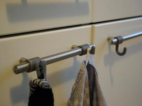 Kitchen Towel Hook for Round Bars (Customizable)