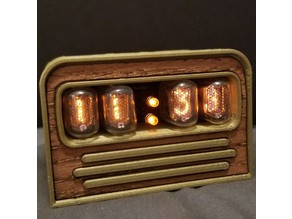 IN-17 Retro Nixie Clock Case