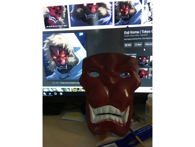 Devil Ape Mask From Tokyo Ghoul By Lookwhatjoeysmaking Thingiverse