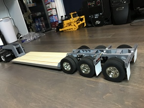 Tamiya Truck 1/14 Low Boy Trailer v2 Detachable Neck Flip Axle
