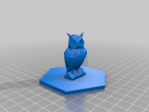 Low Poly Owl Game Piece