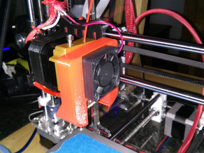 Fan shroud for Prusa i3 with MK8 extruder