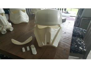 Rogue One ShoreTrooper Helmet Split to fit Smaller 3D Printer