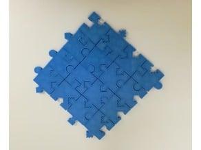 Jigsaw Puzzle, 16 Distinct Pieces, Shapes & Patterns