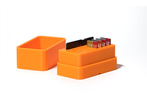 Micro SD card and adapter storage box