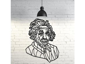 Albert Einstein Wall Sculpture 2D