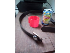 belt beer can holder