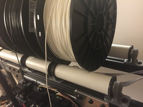 "Universal Filament Spool Rollers -  using 1"" PVC & printed ends for 8mm rod"