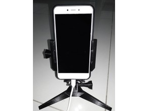 Table top holder for mobile phone
