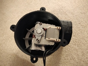 Exhaust Fan built with 120V Bathroom motor and Impeller