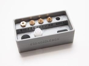 E3D Nozzle Box editable & new lid