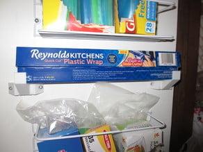 Adjustable Plastic Wrap Pantry Door Shelf