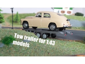 Tow Trailer for 1:43 models/cars.