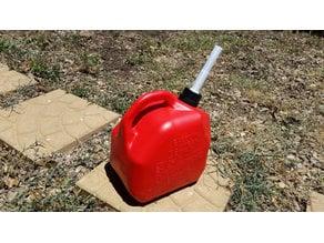 Gas container spout