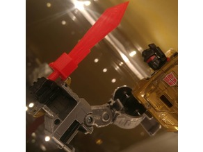 Power of the Primes Grimlock G1 styled sword