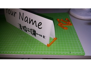 Keychain Nameplate Stand