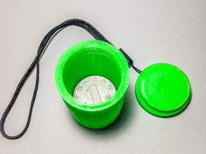 Coin Container with threads