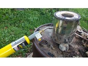 1 gallon paint can metal melting furnace interior mold